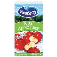 Aseptic Juice Boxes, 100% Apple, 4.2 oz, 40 per Carton