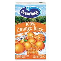 Aseptic Juice Boxes, 100% Orange, 4.2 oz, 40 per Carton