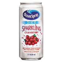 Diet Sparkling Cranberry Juice, 12 oz. Can, 12 per Carton