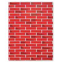 Fadeless Designs Bulletin Board Paper, Brick, 50 ft x 48""