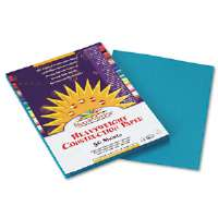 Construction Paper, 58 lbs., 9 x 12, Turquoise, 50 Sheets/Pack