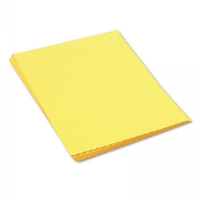 Construction Paper, 58 lbs., 18 x 24, Yellow, 50 Sheets/Pack