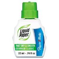 Fast Dry Classic Correction Fluid, 22 ml Bottle, White