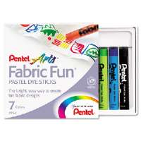Fabric Pastel Dye Sticks, Assorted, 7/Set