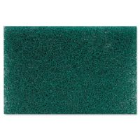Heavy Duty Scour Pad, Green, 6 x 9, 15/Carton