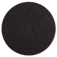 Standard 17-Inch Diameter Stripping Floor Pads, Black
