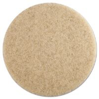 "Ultra High-Speed Floor Pads, 19"" dia, Natural Hair, Champagne, 5/Carton"