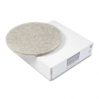 "Natural Hair Extra High-Speed Floor Pads, Natural, 20"" dia, 5/Carton"