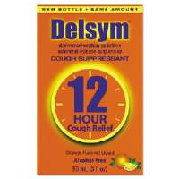 Adult Cough Suppressant, Orange, 3 oz Bottle