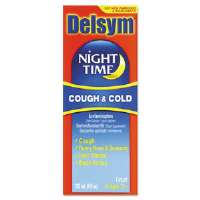 Adult Night Time Cough and Cold Liquid, Cherry, 4 oz Bottle
