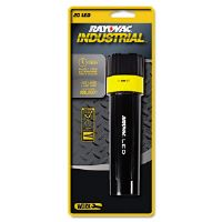 Industrial LED Flashlight with Twist On-Off Switch, Black, 2 D