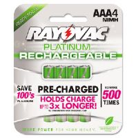 Platinum Rechargeable NiMH Batteries, AAA, 4 per Pack