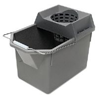 Pail/Strainer Combinations, 15 qt, Steel Gray