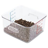 SpaceSaver Square Containers, 4qt, 8 4/5w x 8 3/4d x 4 3/4h, Clear