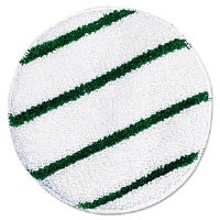 Low Profile Scrub-Strip Carpet Bonnet, Carpet, 17&quot;, White/Green
