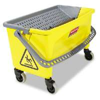 HYGEN Press Wring Bucket for Microfiber Flat Mops, Yellow