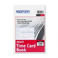 Employee Time Card, Weekly, 4-1/4 x 6, 100/Pad