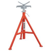 V Head Pipe Stand, Up to 12&quot; Pipe Capacity, Red