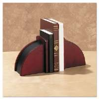 Bookends, Nonskid, 10 x 4 1/2 x 6 1/8, Solid Wood, Mahogany