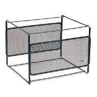 Letter Size Mesh File Frame Holder, Wire, 12 3/8 x 11 3/8 x 9 5/8, Black-22191