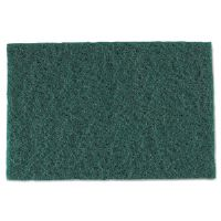 Medium-Duty Scouring Pad, 6 x 9, Green, 10/Pack