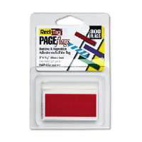 Removable/Reusable Page Flags, Red, 300/Pack