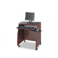 Picco Duo Workstation, 28-1/4w x 22-1/4d x 30-1/4h, Mahogany Laminate Top