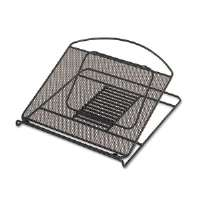 Safco Onyx Adjustable Steel Mesh Laptop Stand, 12 1/4 x 12 1/4 x 1, Black (2161BL)