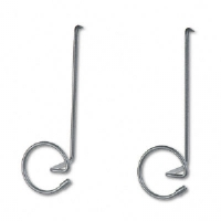 Panelmate Wire Coat Hooks with Plastic Ends, 7 x 7 1/4, Charcoal, 2/Pack