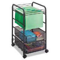 Onyx Mesh Mobile File, Two Drawers, 15-3/4w x 17d x 27h, Black