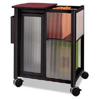 Impromptu Mobile Storage Center W/ Hanging File, 23-1/2 x 17-1/4 x 26-1/2, Black