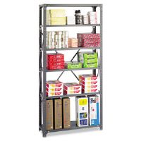 Commercial Steel Shelving Unit, 6 Shelves, 36w x 12d x 75h, Dark Gray