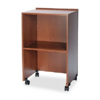 Lectern Base/Media Cart, 21-1/4w x 17-1/2d x 33-3/4h, Medium Oak
