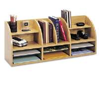Radius Front Organizer, 12 Sections, 38 1/2 x 9 5/8 x 15 1/4, Medium Oak