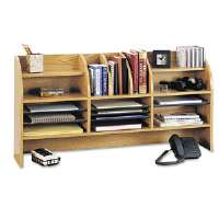 Radius Front Organizer, 16 Sections, 47 1/2 x 9 5/8 x 23 3/4, Medium Oak