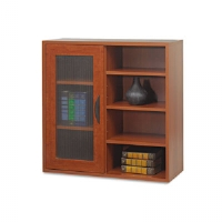 Apr�s Single-Door Cabinet w/Shelves, 29-3/4w x 11-3/4d x 29-3/4h, Cherry