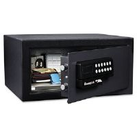 Electronic Lock/Card Swipe Security Safe, 1.1 ft3, 18w x 16d x 9h, Black