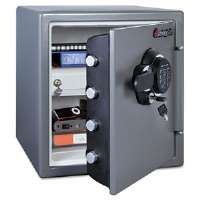 Electronic Fire-Safe, 1.23 ft3, 16-3/8w x 19-3/8d x 17-7/8h, Gray