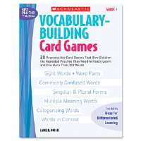 Vocabulary Building Card Games, Grade One, 80 pages