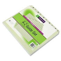 Recycled Top Tab File Guides, Alpha, 1/5 Tab, Pressboard, Letter, 25/Set-50376