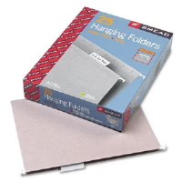 Hanging File Folders, 1/5 Tab, 11 Point Stock, Letter, Gray, 25/Box