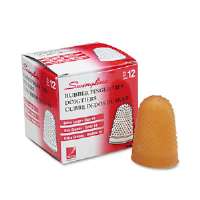 Rubber Finger Tips, Size 14, X-Large, Amber, 1/Dozen