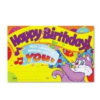 Recognition Awards, Happy Birthday!, 8-1/2w x 5-1/2h, 30/Pack