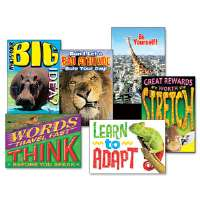 "Assorted ""Animals - Self Discovery"" Motivational Prints, 13 3/8 x 19, 6/Pack"