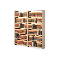 Snap-Together Open Shelving Steel 6-Shelf Closed Starter Set, 48 x 12 x 76, Sand