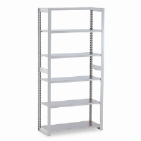 Regal Shelving Add-On Unit, 6 Shelves, 36w x 15d x 76h, Sand