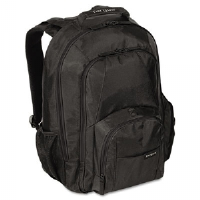 "15.4"" Groove Laptop Backpack, Nylon, 13 x 7-3/4 x 18, Black"