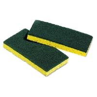 Medium-Duty Scrubbing Sponges, 3-3/8 x 6-1/4, 5 Sponges/Pack