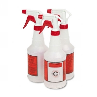 Plastic Sprayer Bottles, 24 oz., 3 Bottles/Pack