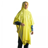 Disposable Rain Poncho, 100% PVC, Yellow